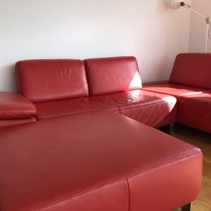 Nice design sofa, real leather, in a great condition!