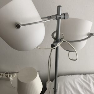 Three Ikea lamps